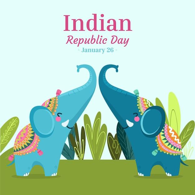 Ręcznie Rysowane Dzień Republiki Darmowych Wektorów