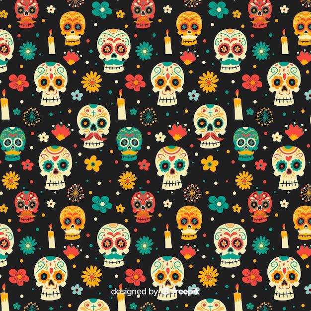 Ręcznie rysowane dzień zmarłych wzór Darmowych Wektorów