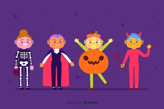 Ręcznie rysowane halloween dziecko kolekcja Darmowych Wektorów