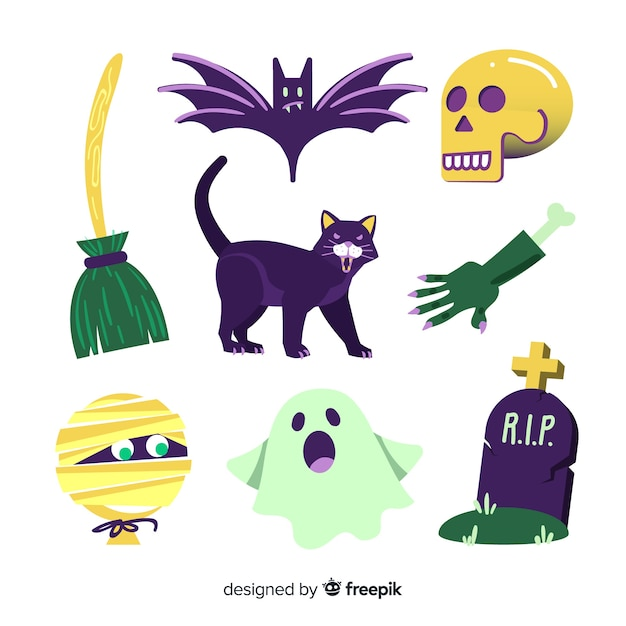 Ręcznie rysowane halloween element kolekcji Darmowych Wektorów