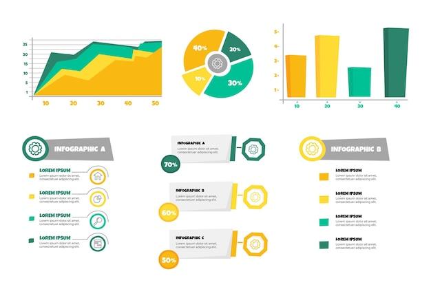 Ręcznie Rysowane Infografiki Wizualizacji Danych Secuencial Darmowych Wektorów