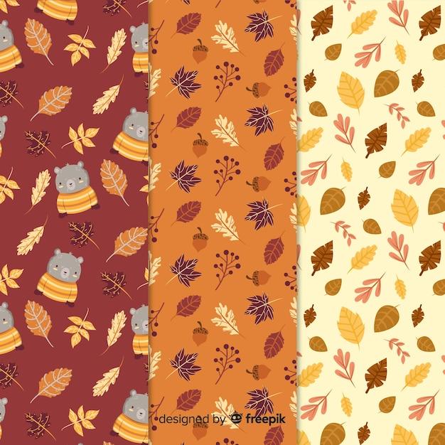 Ręcznie rysowane jesień wzór kolekcji Darmowych Wektorów