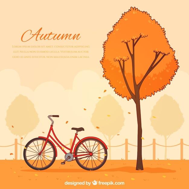 Ręcznie Rysowane Jesienią Tła Darmowych Wektorów