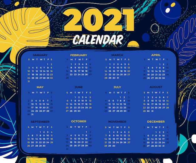 Ręcznie Rysowane Kalendarz Nowego Roku Premium Wektorów