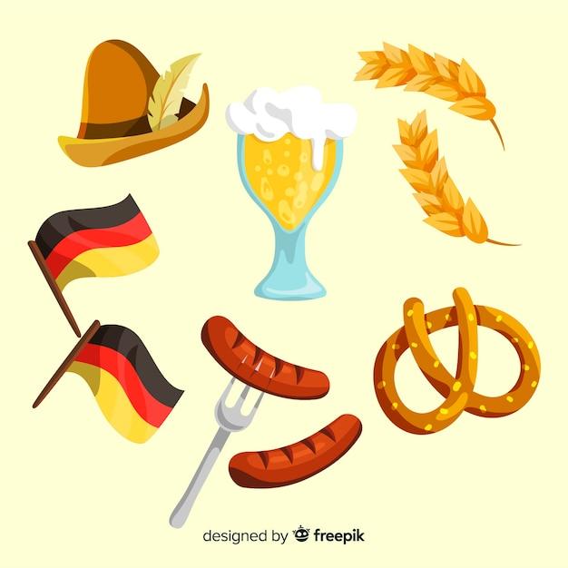 Ręcznie Rysowane Kolekcja Oktoberfest Elementu Darmowych Wektorów