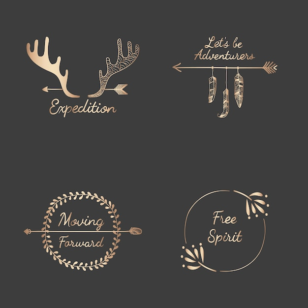 Ręcznie rysowane kolekcja projektowania podróży Darmowych Wektorów