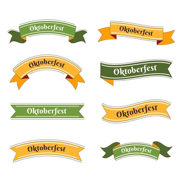 Ręcznie Rysowane Kolekcja Wstążek Oktoberfest Premium Wektorów