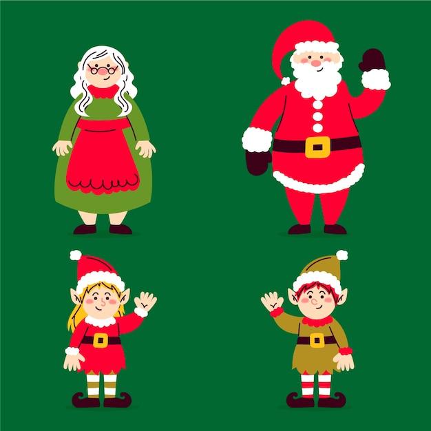 Ręcznie Rysowane Kolekcji Znaków Bożego Narodzenia Darmowych Wektorów