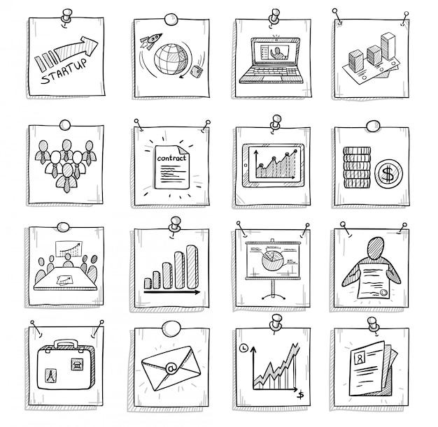 Ręcznie Rysowane Koncepcja Biznesowa Darmowych Wektorów