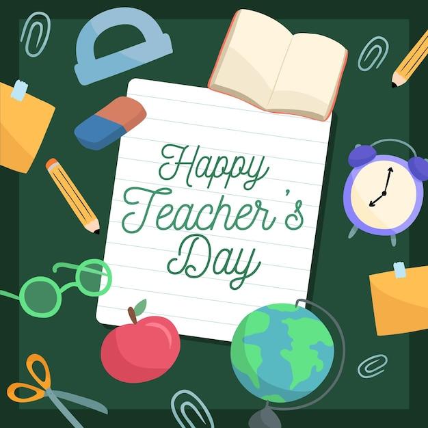 Ręcznie Rysowane Koncepcja Dzień Nauczyciela Darmowych Wektorów
