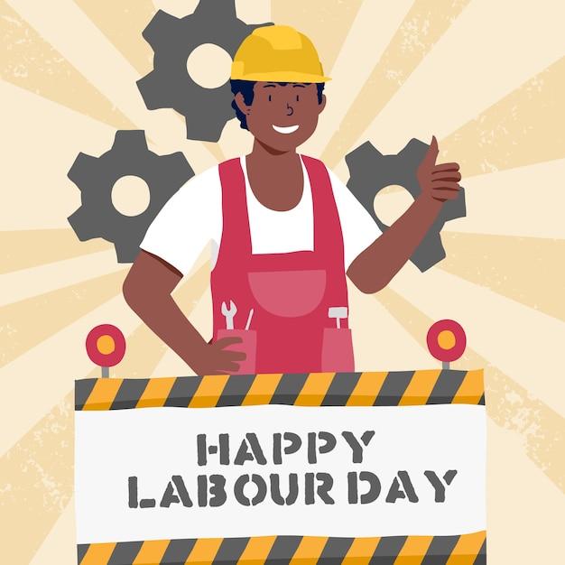 Ręcznie Rysowane Koncepcja Dzień Pracy Darmowych Wektorów