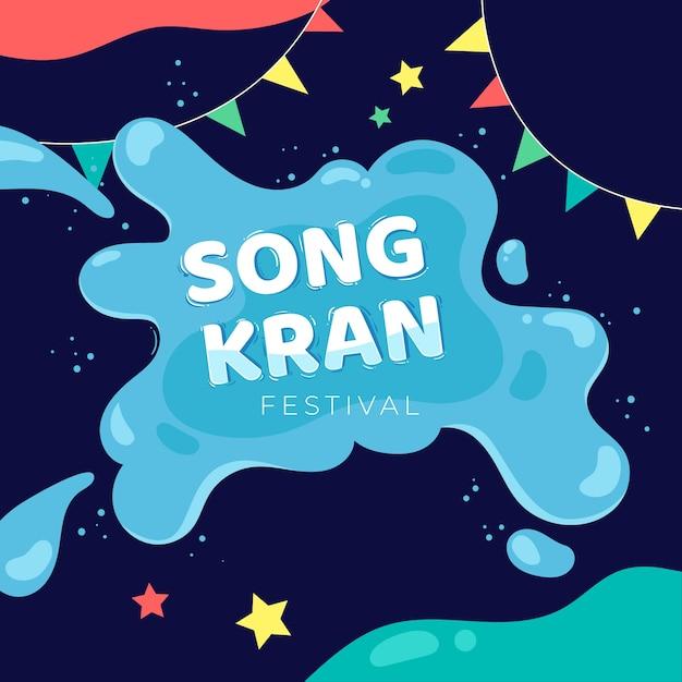 Ręcznie Rysowane Koncepcja Songkran Darmowych Wektorów
