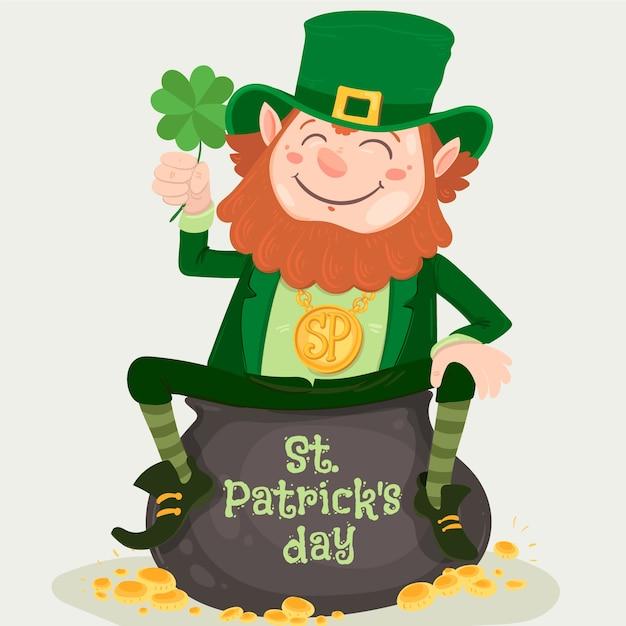 Ręcznie Rysowane Koncepcja St Patricks Day Darmowych Wektorów