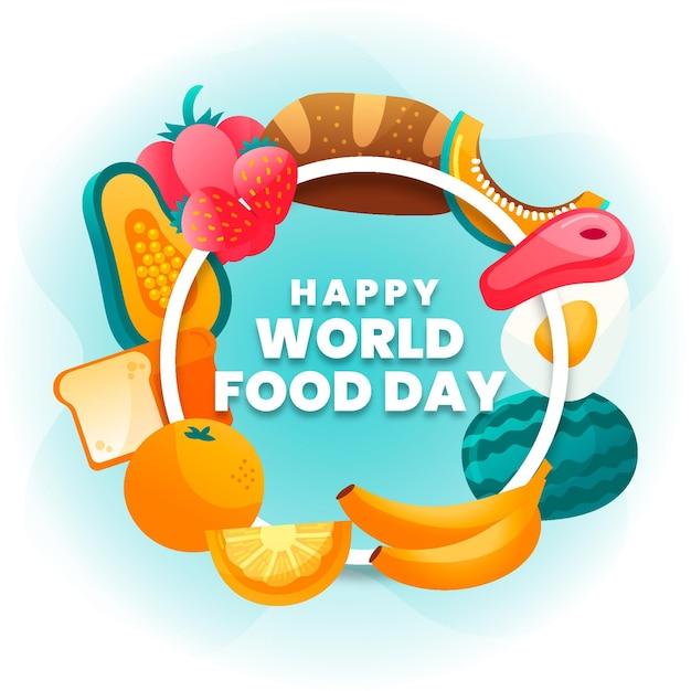 Ręcznie Rysowane Koncepcja światowego Dnia żywności Darmowych Wektorów