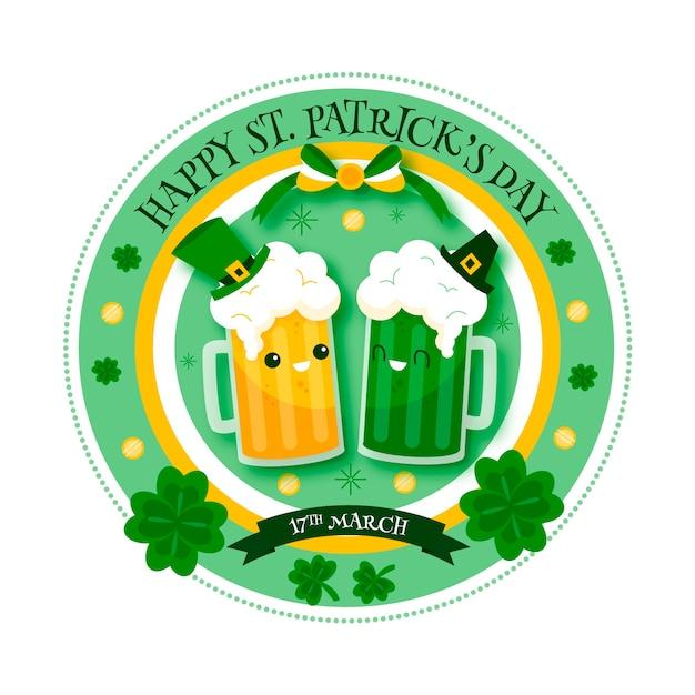 Ręcznie Rysowane Koncepcja Tematyczna św. święto Patricks Day Darmowych Wektorów