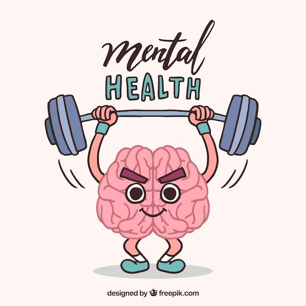 Ręcznie Rysowane Koncepcja Zdrowia Psychicznego Darmowych Wektorów
