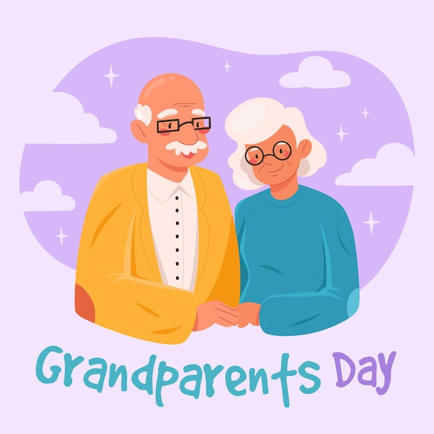 Ręcznie Rysowane Krajowe Dzień Dziadków Darmowych Wektorów