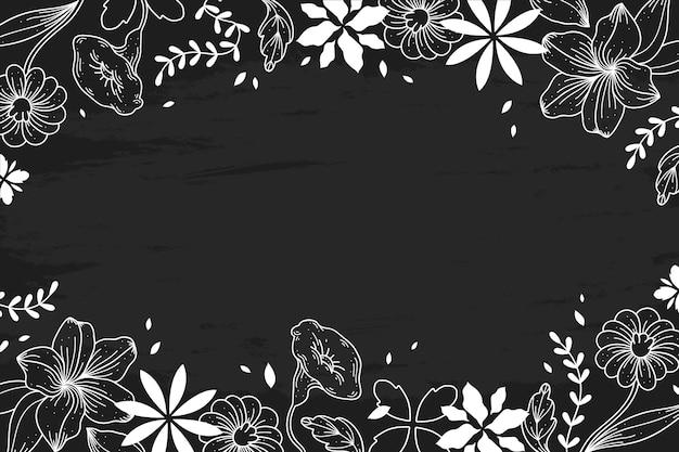 Ręcznie Rysowane Kwiaty Na Tablicy Darmowych Wektorów