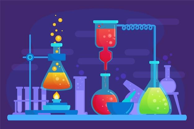 Ręcznie Rysowane Laboratorium Naukowe Darmowych Wektorów