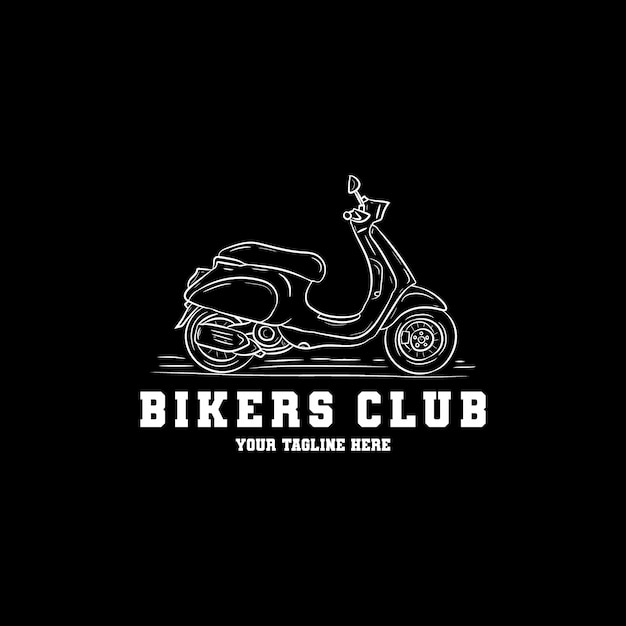 Ręcznie Rysowane Logo Skuter Premium Wektorów