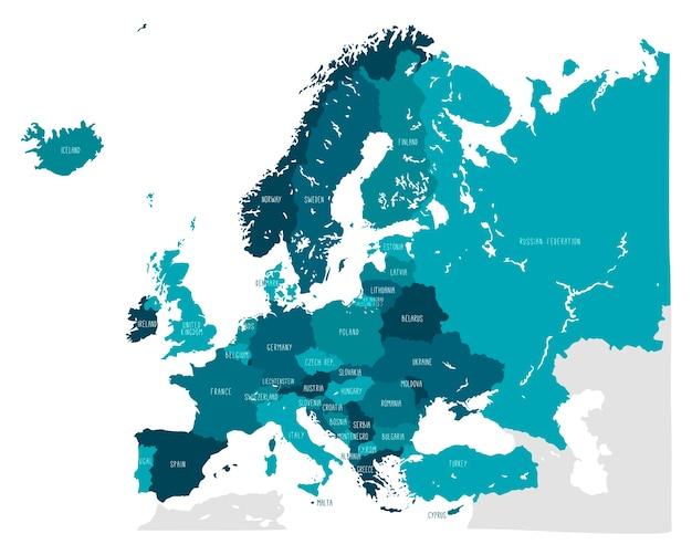 Ręcznie Rysowane Mapy Wektorowej Europy Premium Wektorów