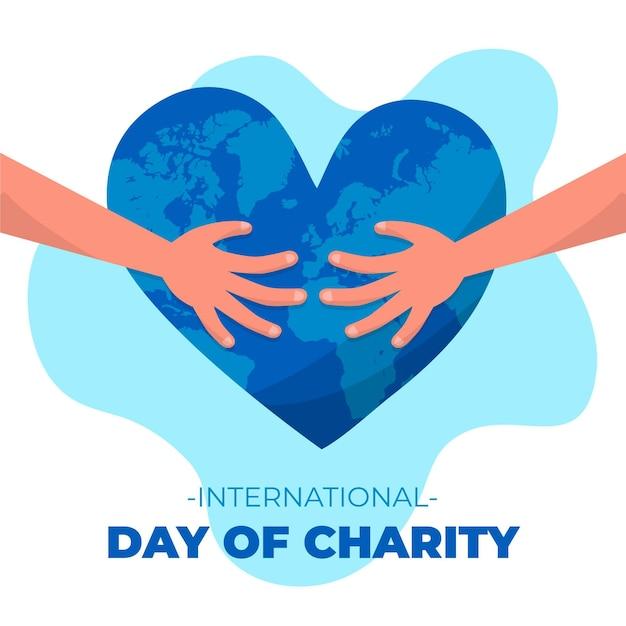 Ręcznie Rysowane Międzynarodowy Dzień Koncepcji Miłości Darmowych Wektorów