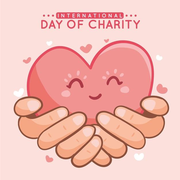 Ręcznie Rysowane Międzynarodowy Dzień Miłości Premium Wektorów
