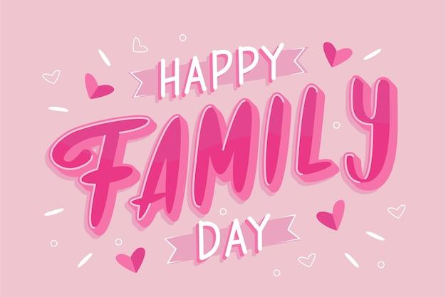 Ręcznie Rysowane Międzynarodowy Dzień Rodzin Darmowych Wektorów