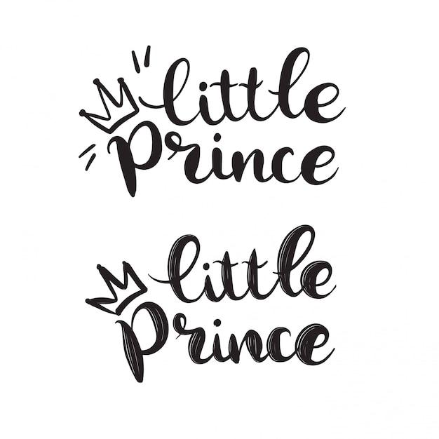 Ręcznie Rysowane Napis Llittle Prince Premium Wektorów