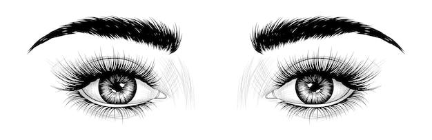 Ręcznie rysowane oczy Premium Wektorów