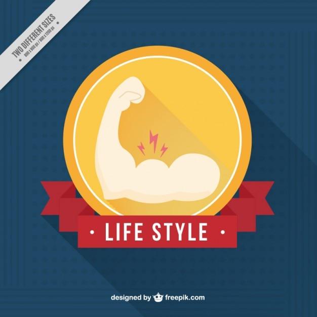 Ręcznie Rysowane Odznaka Mięśni Darmowych Wektorów