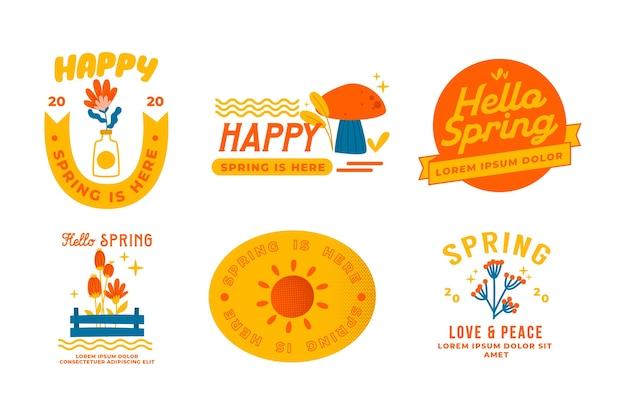 Ręcznie Rysowane Odznaki Sprzedaż Wiosna Darmowych Wektorów
