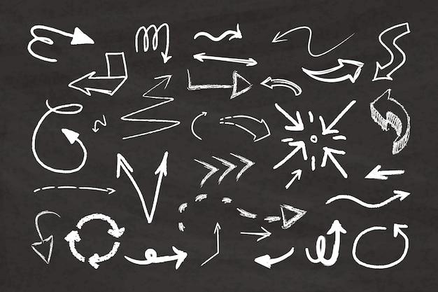 Ręcznie rysowane pakiet strzał Darmowych Wektorów