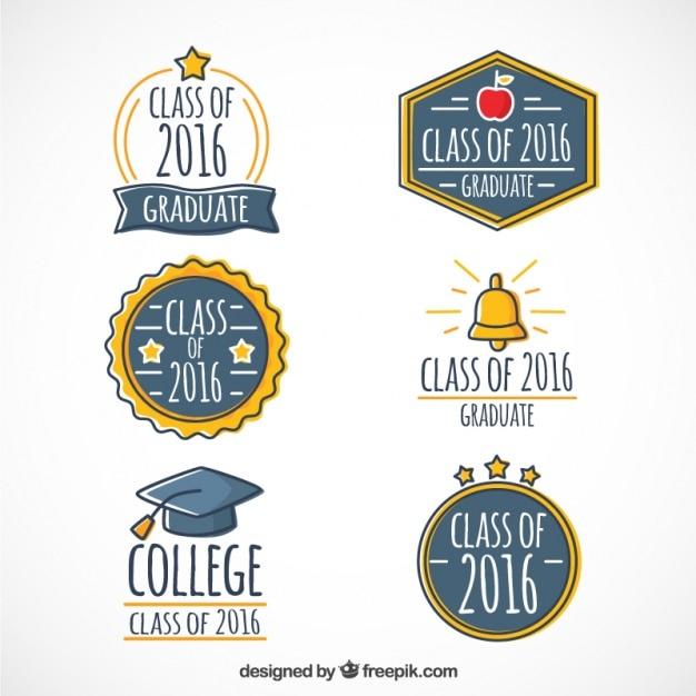 Ręcznie Rysowane Piękne Logo Dyplomowy Darmowych Wektorów