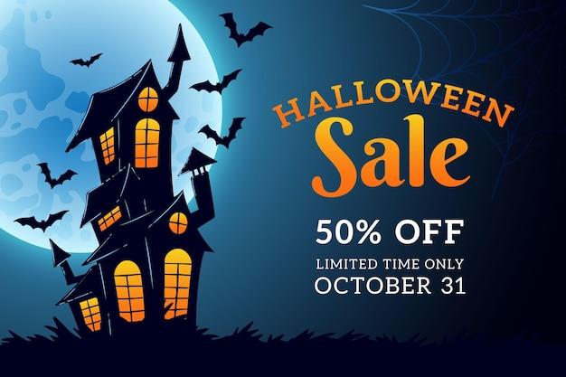 Ręcznie Rysowane Projekt Sprzedaży Halloween Darmowych Wektorów
