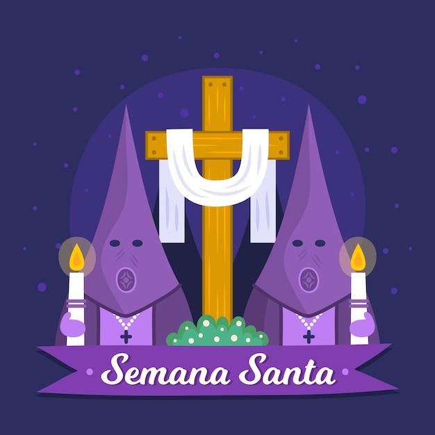 Ręcznie Rysowane Semana Santa Koncepcja Darmowych Wektorów