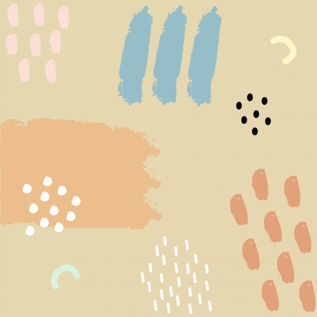 Ręcznie Rysowane Streszczenie Pędzla Farby Premium Wektorów