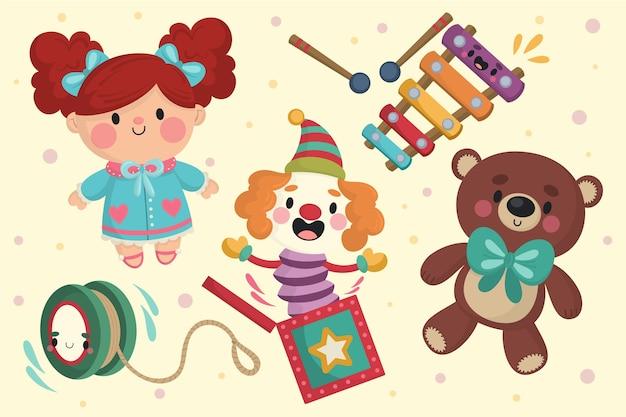 Ręcznie rysowane świątecznych kolekcji zabawek Darmowych Wektorów