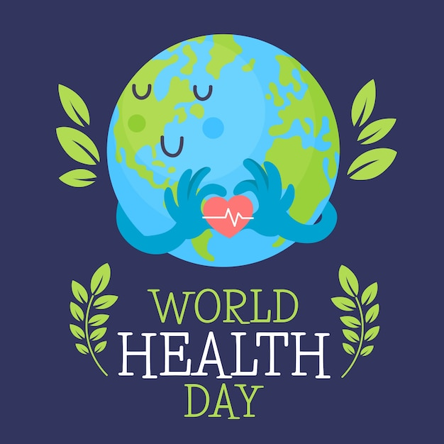 Ręcznie Rysowane światowy Dzień Heathy Darmowych Wektorów