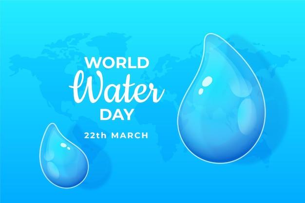 Ręcznie Rysowane światowy Dzień Wody Darmowych Wektorów
