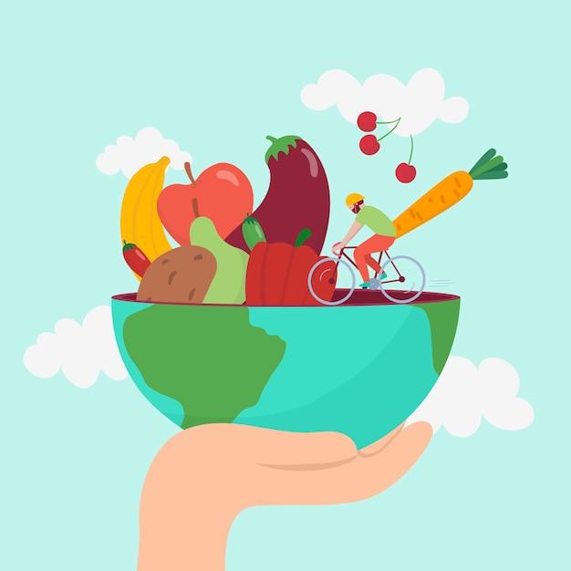 Ręcznie Rysowane światowy Dzień Zdrowia Darmowych Wektorów