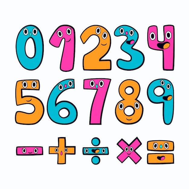 Ręcznie Rysowane Symbole Matematyczne Darmowych Wektorów