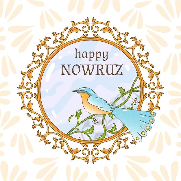 Ręcznie Rysowane Szczęśliwego Nowruz Obchody Dnia Darmowych Wektorów