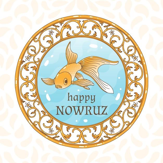 Ręcznie Rysowane Szczęśliwy Nowruz Dzień Darmowych Wektorów