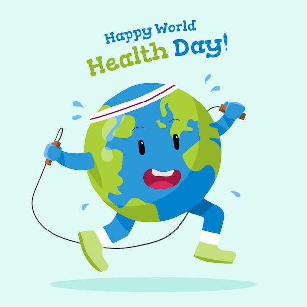 Ręcznie Rysowane Tapety światowy Dzień Zdrowia Darmowych Wektorów
