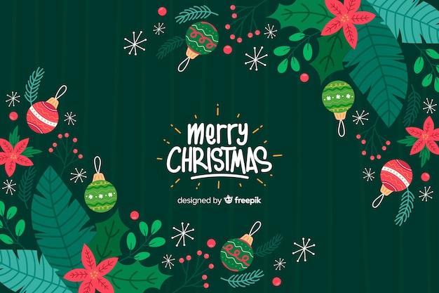 Ręcznie Rysowane Tła Boże Narodzenie Premium Wektorów