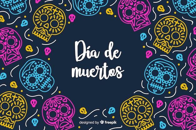 Ręcznie rysowane tła día de muertos Darmowych Wektorów