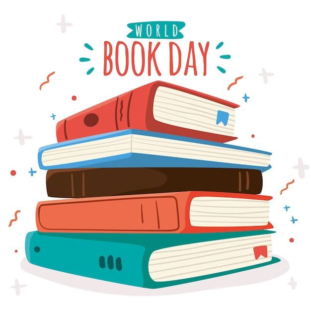 Ręcznie Rysowane Tła Dzień Książki świata Darmowych Wektorów