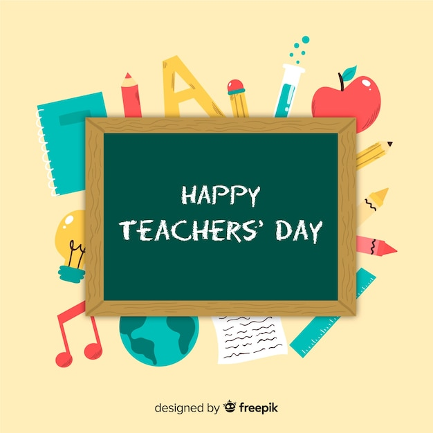 Ręcznie rysowane tła dzień nauczycieli Darmowych Wektorów