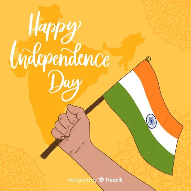 Ręcznie Rysowane Tła Dzień Niepodległości Indii Darmowych Wektorów